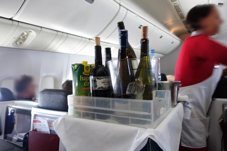 オーストリア航空「ビジネスクラス」のドリンク1