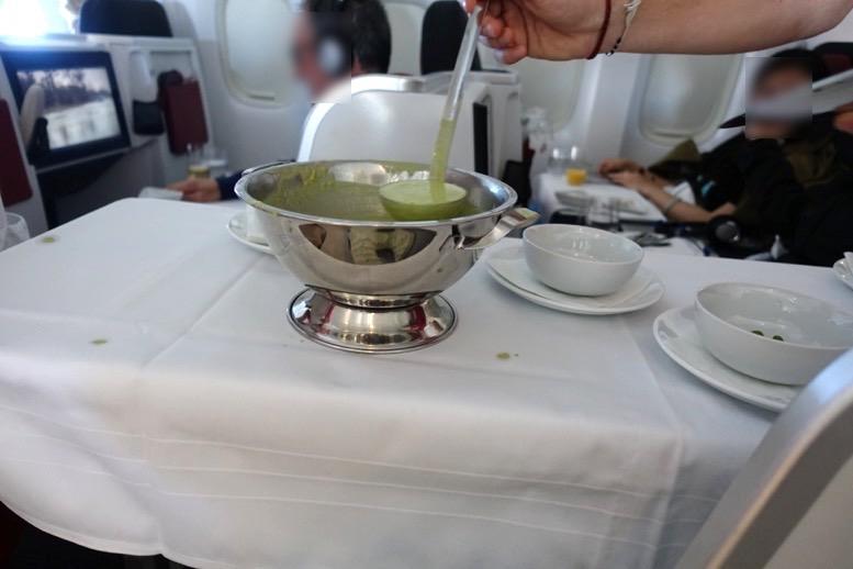 オーストリア航空「ビジネスクラス」の機内食(フード)4
