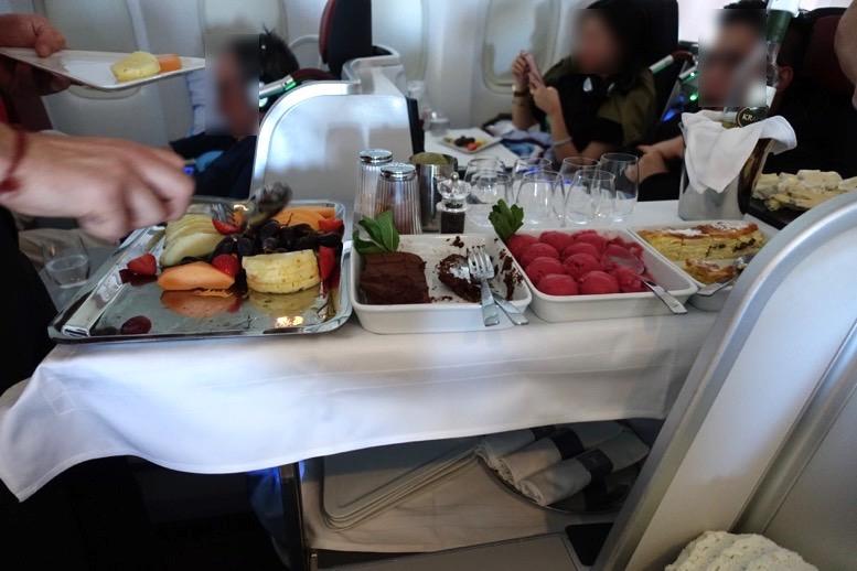オーストリア航空「ビジネスクラス」の機内食(フード)8