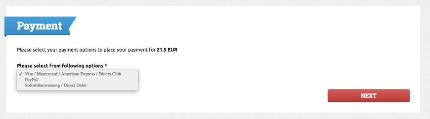 ウィーンのアウトレット:シャトルバスの予約手順7