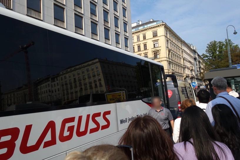 ウィーンのアウトレット:シャトルバスの乗車方法1