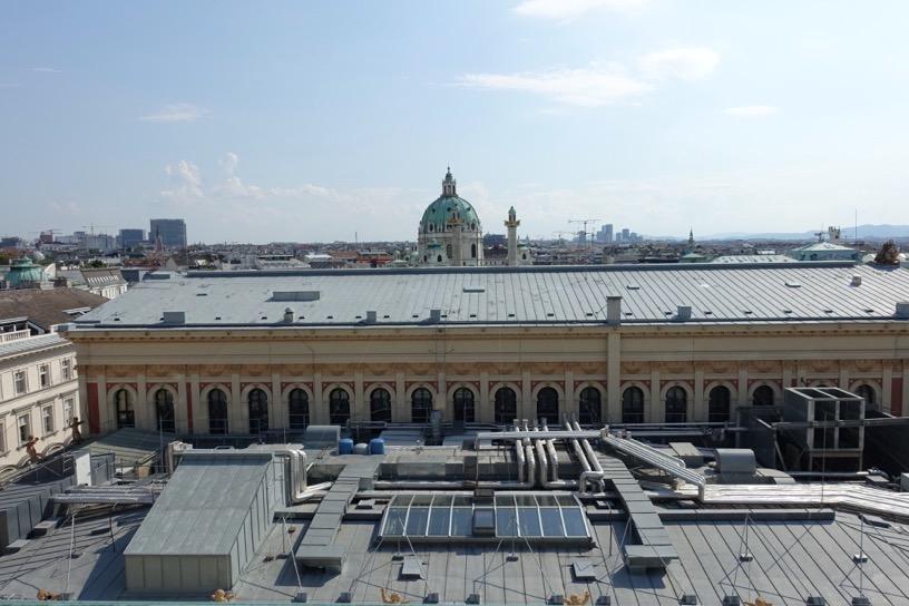 ホテル インペリアル ウィーン:テラスからの眺望2