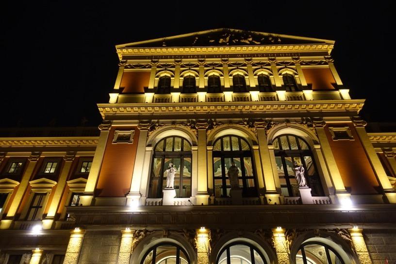 楽友協会ホール:夜景ライトアップ1