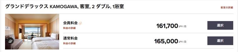 ザ・リッツ・カールトン京都:グランドデラックスKAMOGAWAの料金
