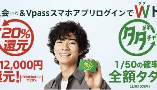 三井住友カードで20%還元キャンペーンがスタート!最大12,000円キャッシュバック!