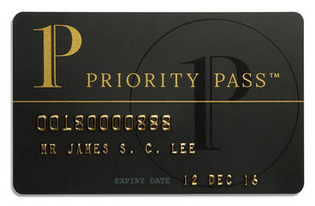 プライオリティパスの券面