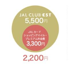 JALカード「JAL CLUB EST」の年会費