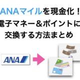 ANAマイルを現金化する方法!電子マネーやポイントへ交換方法のまとめ!