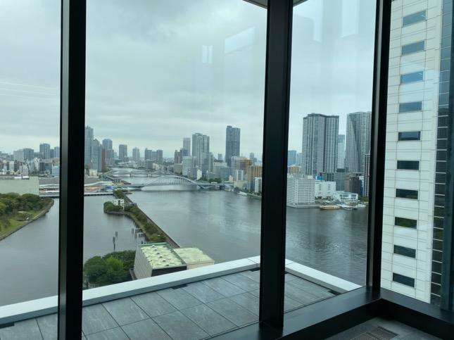 「メズム東京」のロビー階からの眺望