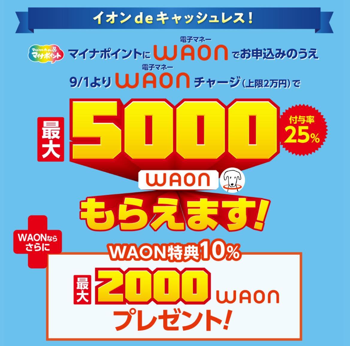 マイナポイント登録キャンペーン「WAON」:概要