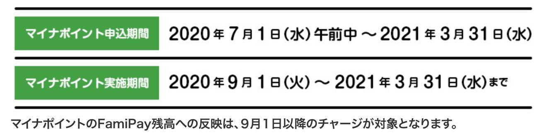 マイナポイント登録キャンペーン「Fami Pay」:詳細1