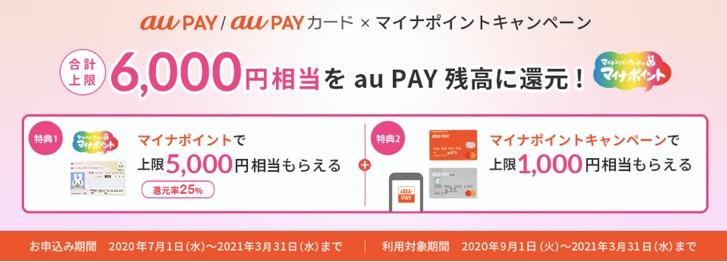 マイナポイント登録キャンペーン「au Pay」:概要