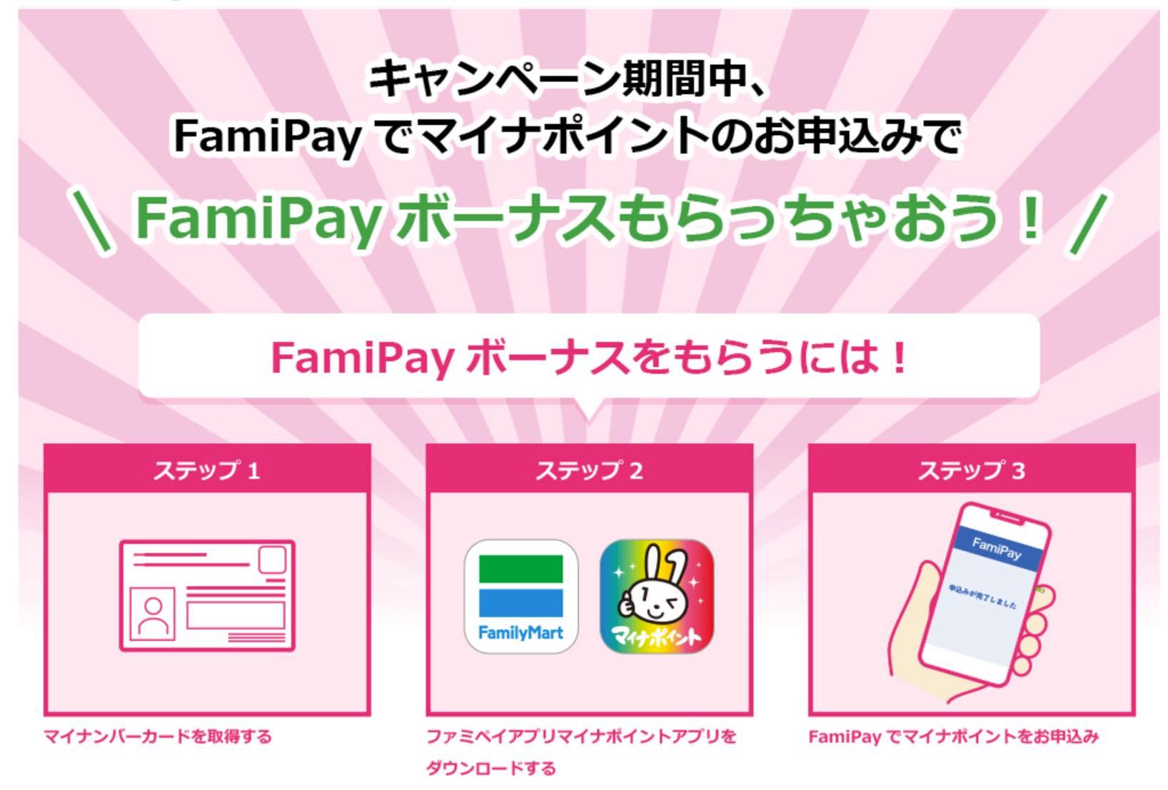 マイナポイント登録キャンペーン「Fami Pay」:詳細2