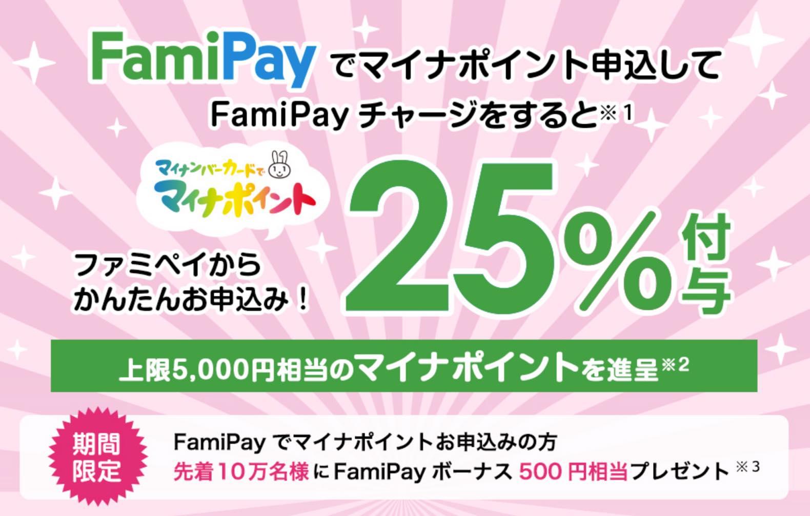 マイナポイント登録キャンペーン「Fami Pay」:概要