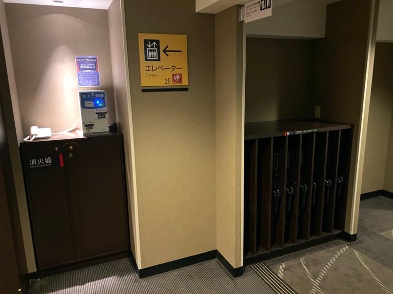 アパホテル東京潮見駅前:エレベーターホール