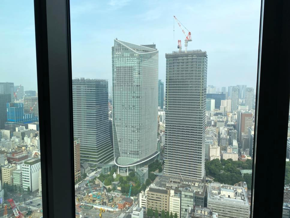 「The Okura Tokyo」のクラブラウンジ:眺望(昼間)