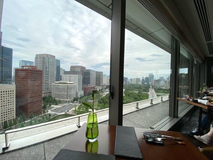 パレスホテル東京「クラブラウンジ」:眺望