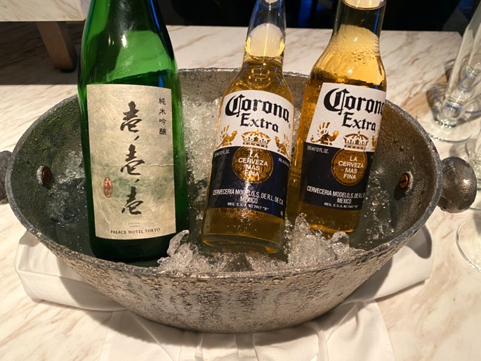 パレスホテル東京「クラブラウンジ」:カクテルタイム(日本酒)