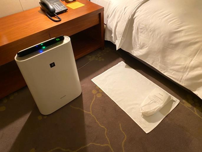 パレスホテル東京:客室(空気清浄機)