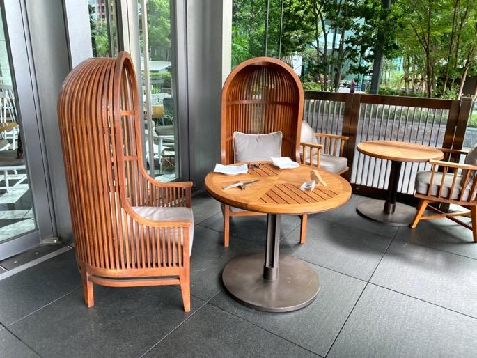 パレスホテル東京「グランドキッチン」:テラス席2