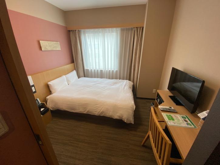 ドーミーインPREMIUM東京小伝馬町「ダブルルーム」:寝室