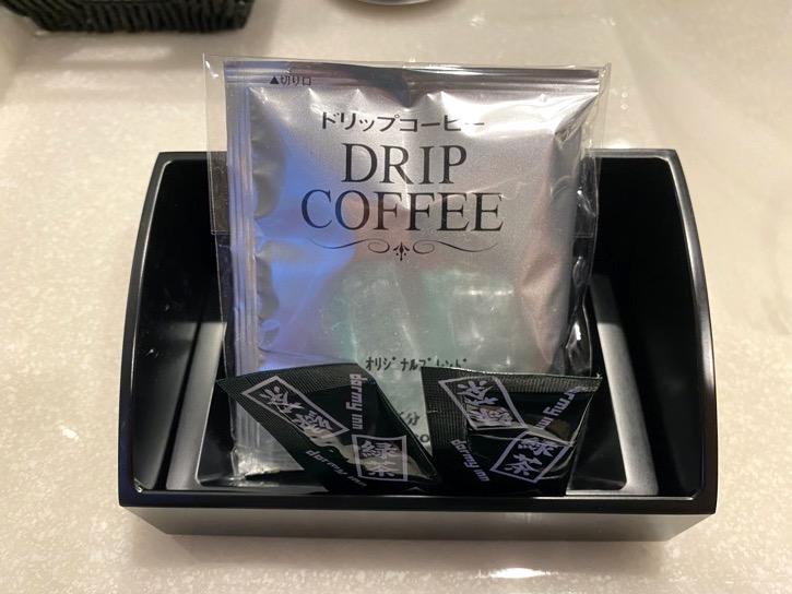 ドーミーインPREMIUM東京小伝馬町「ダブルルーム」:コーヒー&日本茶