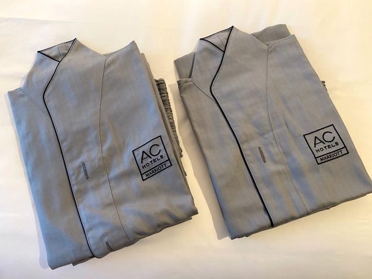 ACホテル東京銀座:客室(パジャマ)