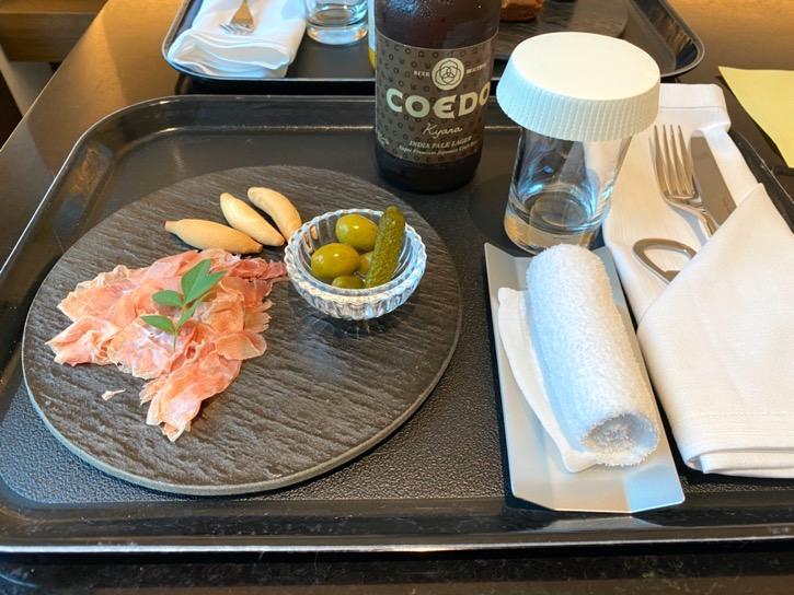 ACホテル東京銀座:「ドリンク&軽食」1