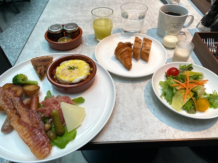 ACホテル東京銀座:レストラン「AC Kitchen」洋食プレート1