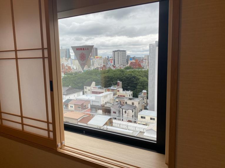 「御宿 野乃 浅草」の客室:窓