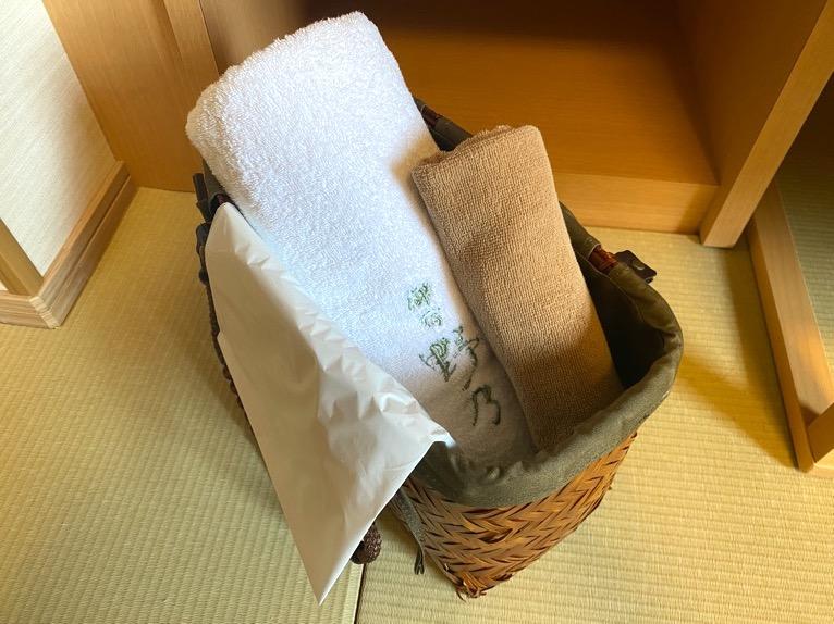 「御宿 野乃 浅草」の客室:タオル