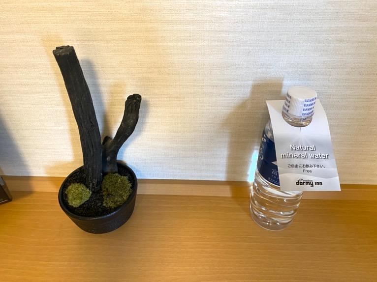 「御宿 野乃 浅草」の客室:無料の水