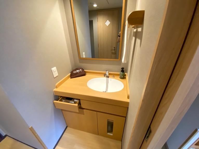 「御宿 野乃 浅草」の客室:洗面台