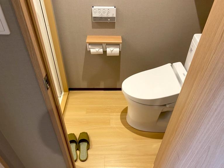 「御宿 野乃 浅草」の客室:トイレ