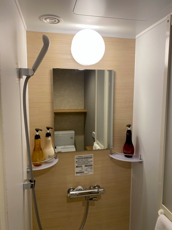 「御宿 野乃 浅草」の客室:シャワールーム