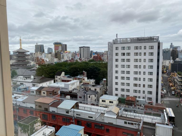 「御宿 野乃 浅草」の客室:眺望1