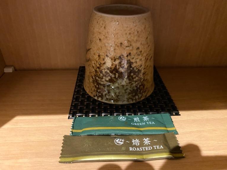 「御宿 野乃 浅草」の客室:お茶
