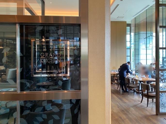 パレスホテル東京「グランドキッチン」:エントランス