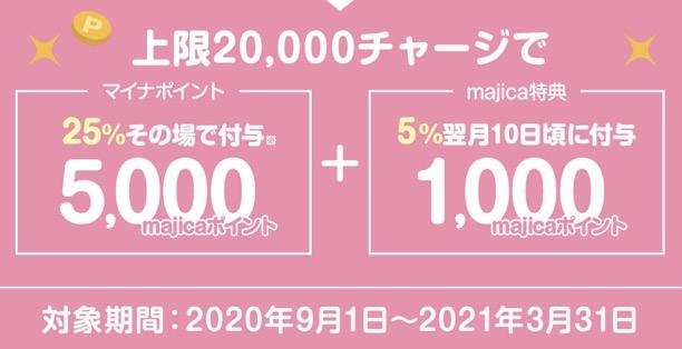 マイナポイント登録キャンペーン「majica」:詳細1