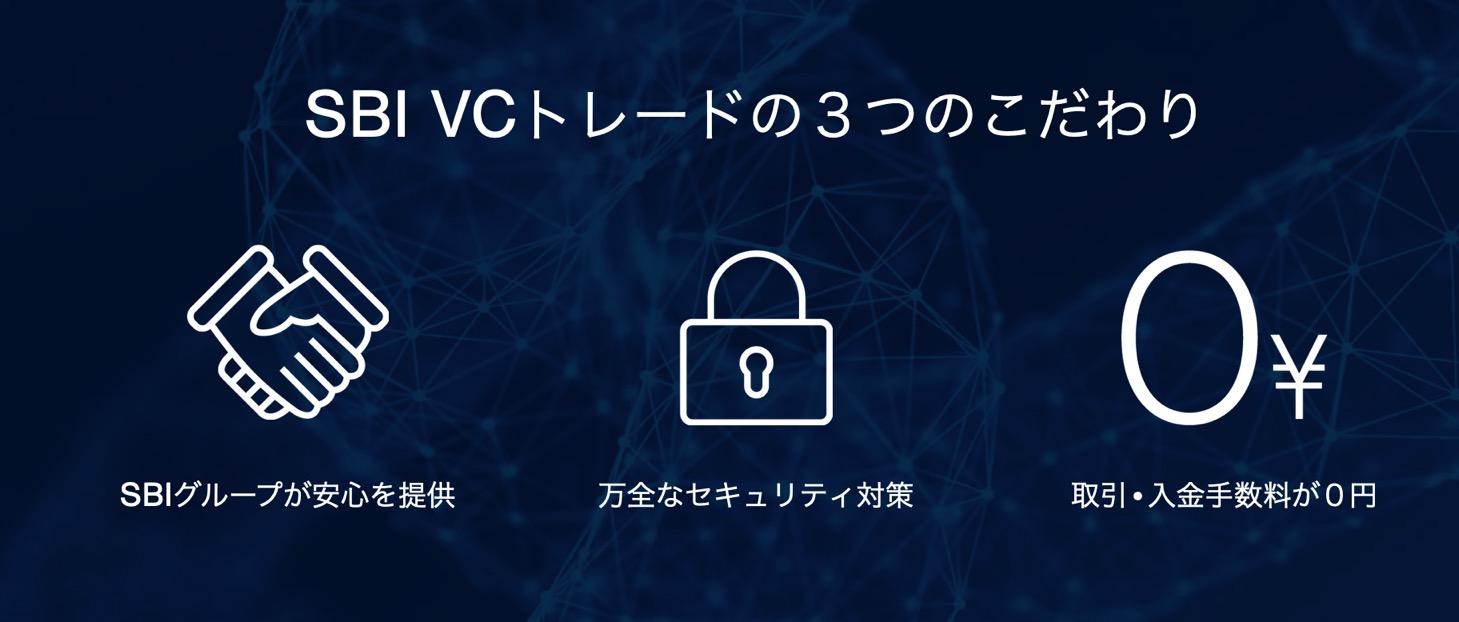 SBI VCトレードの3つの特徴