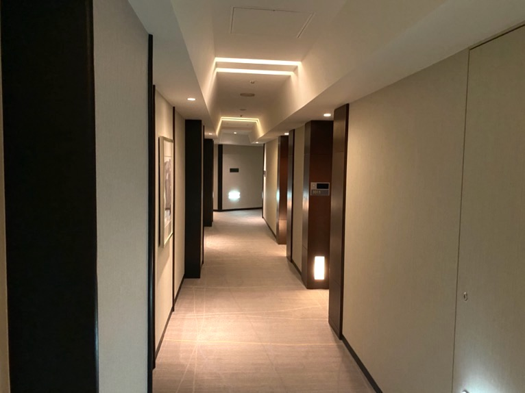 ANAインターコンチネンタルホテル東京:内廊下