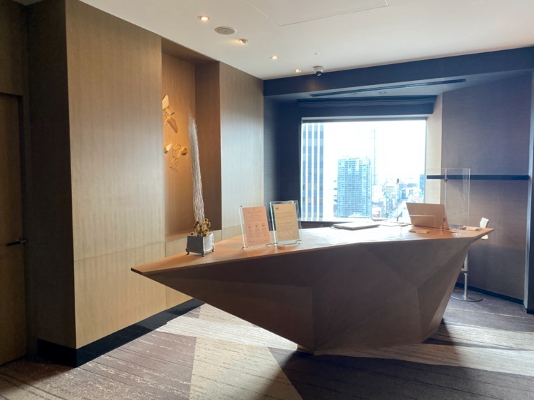 ANAインターコンチネンタルホテル東京のクラブラウンジ:レセプション