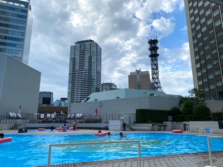 ANAインターコンチネンタルホテル東京:屋外プール