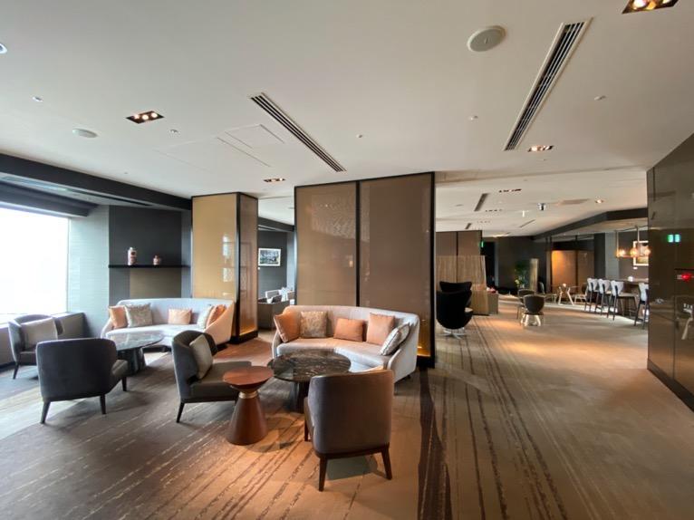 ANAインターコンチネンタルホテル東京のクラブラウンジ:全体像