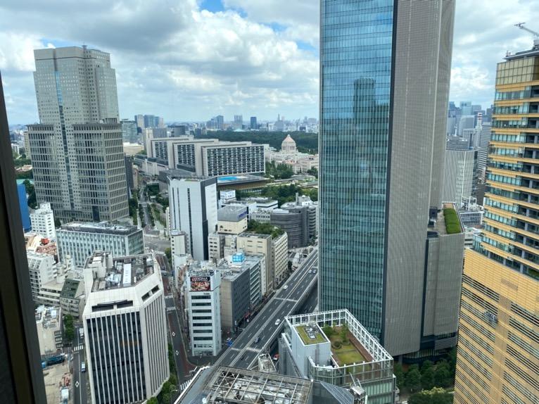 ANAインターコンチネンタルホテル東京のクラブラウンジ:眺望