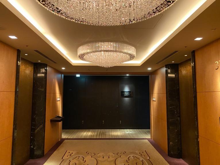 シャングリ・ラ ホテル東京「クラブラウンジ」:エレベーターホール