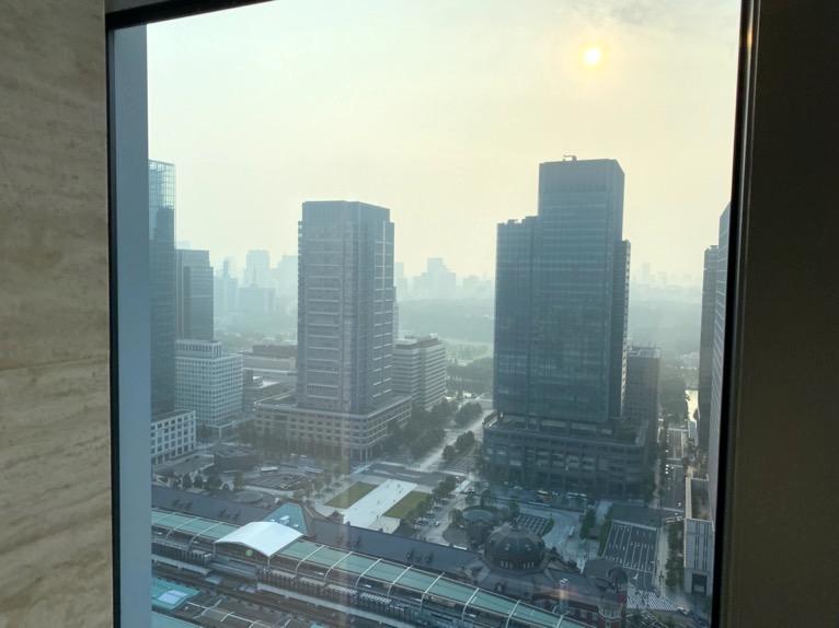 シャングリ・ラ ホテル東京「フィットネスクラブ」眺望