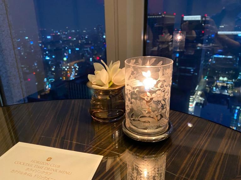 ホライゾンクラブ「カクテルタイム」:テーブル