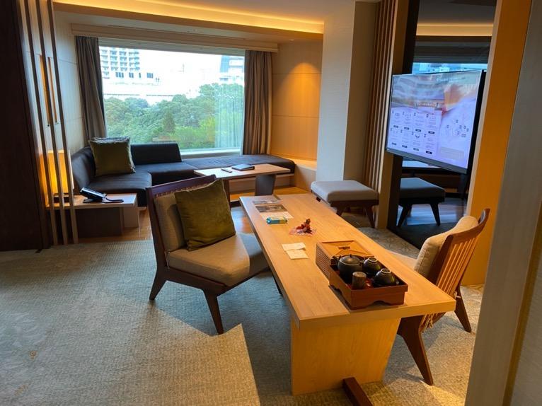ホテル雅叙園東京「エグゼクティブスイート」:リビング