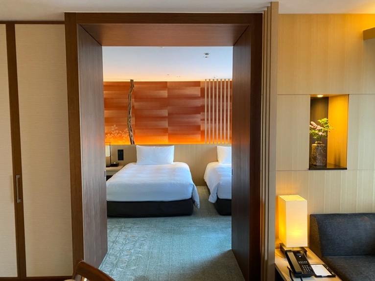 ホテル雅叙園東京「エグゼクティブスイート」:寝室1